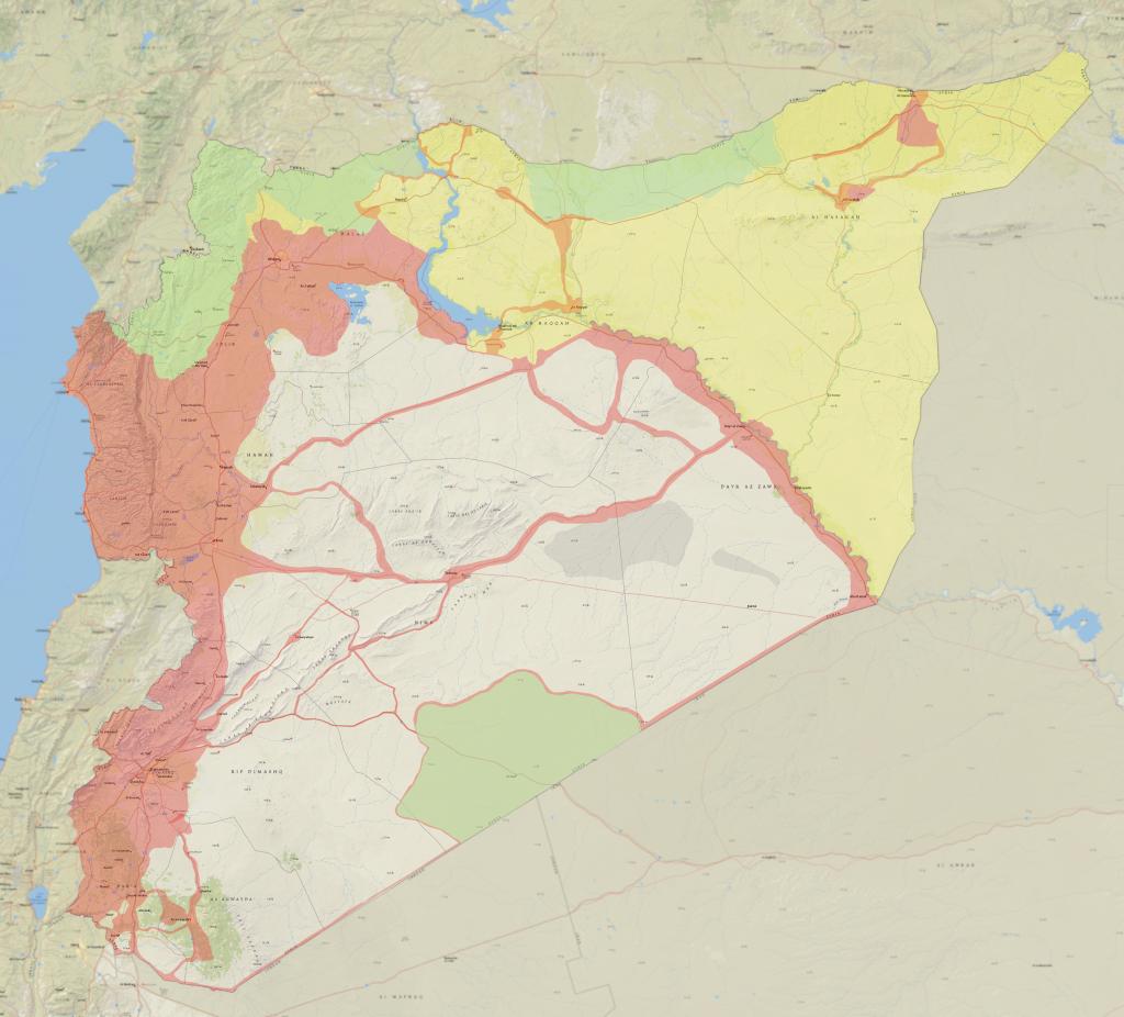Deyrizor'un Suriye'deki konum