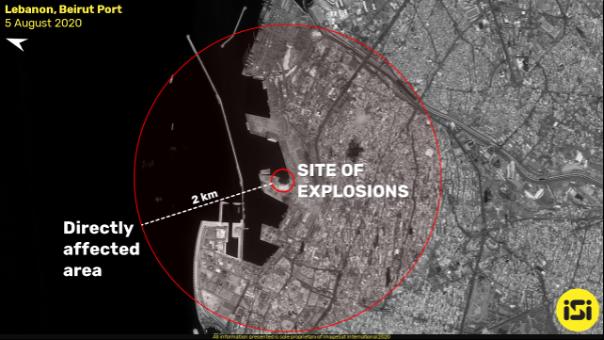 Liman patlamasının etki dairesi